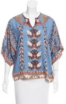 Isabel Marant Printed Short Sleeve Tunic