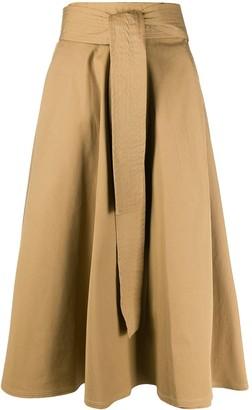 Maison Flaneur Flared Midi Skirt