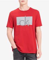 Calvin Klein Jeans Men's Ck Fabric Sticker Logo-Print T-Shirt, a Macy's Exclusive Style