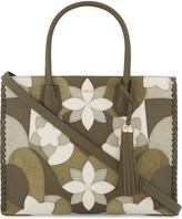 MICHAEL Michael Kors Mercer large leather and suede floral tote