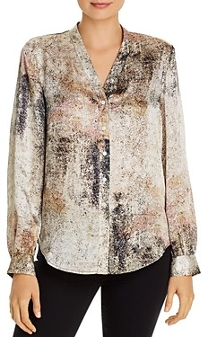 Eileen Fisher Silk Button-Front Blouse - 100% Exclusive