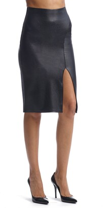 Commando Perfect Faux Leather Side Slit Skirt