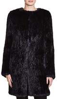 Yves Salomon Meteo by Knitted Rabbit Fur Coat