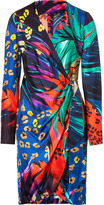 Multicolor Printed Wrap Dress