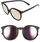 BP Women's 54Mm Round Sunglasses - Black Purple