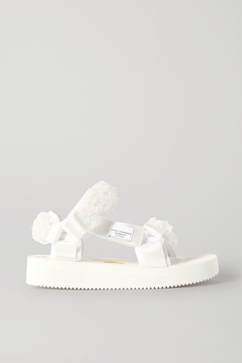 Suicoke Cecilie Bahnsen Maria Bead-embellished Canvas Sandals - White
