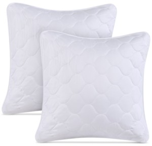 Cedar & Rose Zinnia Set of Two Quilted Euro Pillows Bedding