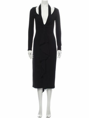 Oscar de la Renta 2018 Midi Length Dress Black