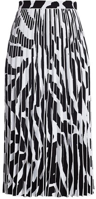 Proenza Schouler Pleated Abstract Print Skirt