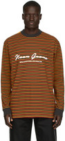 Noon Goons Burgundy and Orange Stripe Patricia Long Sleeve T-Shirt