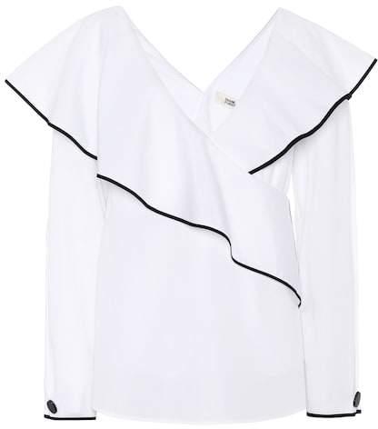Diane von Furstenberg Cotton poplin blouse