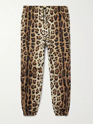 Wacko Maria Tapered Leopard-Print Shell Track Pants