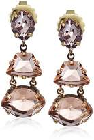 "Sorrelli Apricot Agate"" Geometry Drop Earrings"