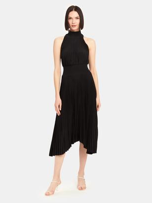 A.L.C. Renzo Asymmetrical Satin Midi Dress