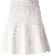 Alexander McQueen jacquard knit skirt - women - Silk/Polyester/Viscose - S