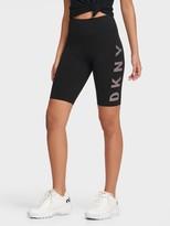 DKNY Bike Shorts With Striped Logo