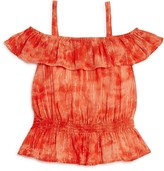 Splendid Girls' Tie Dye Off the Shoulder Top - Big Kid