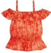 Splendid Girls' Tie Dye Off the Shoulder Top - Sizes 7-14