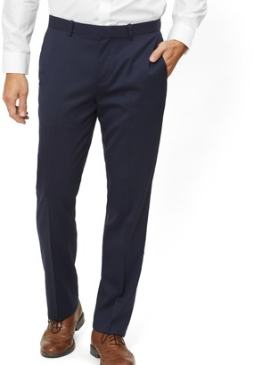 Tie Bar Solid Wool Classic Navy Dress Pants