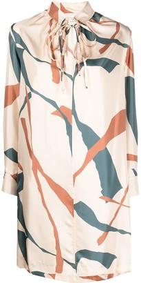 Alysi Silk Shift Dress