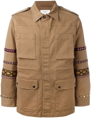 Fashion Clinic Timeless Embroidered Sleeve Field Jacket