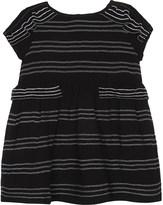Burberry Mini Freja striped silk crepon dress 6-36 months