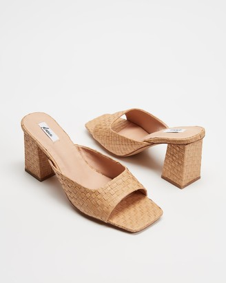 Dazie - Women's Brown Open Toe Heels - Francis Heels - Size 5 at The Iconic