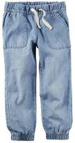 Carter's Girls 4-8 Chambray Denim Jogger Pants