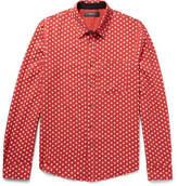 Amiri - Slim-fit Polka-dot Cotton And Cashmere-blend Shirt