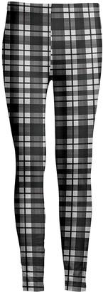 Lily Women's Leggings GRY - Gray & White Plaid Leggings - Women & Plus