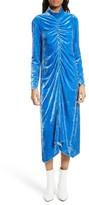 Tibi Women's Stretch Velvet Midi Dress
