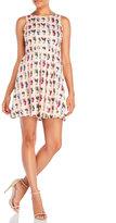 Yumi Cactus Print Woven Skater Dress