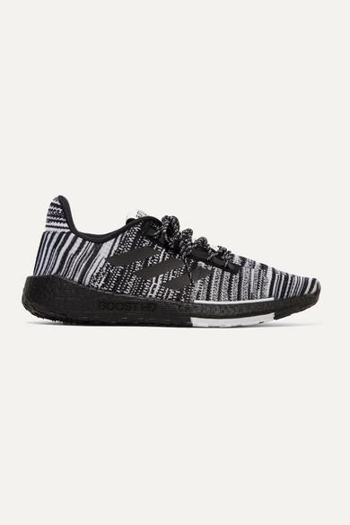 adidas + Missoni Pulseboost Crochet-knit Sneakers - Black