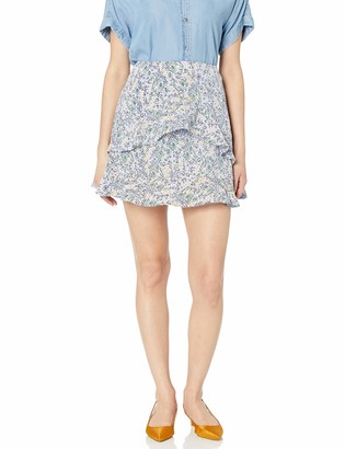 The Fifth Label Women's Tour Ruffle Floral Short Mini Skirt