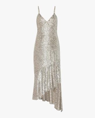 Semsem Asymmetric Sequin Midi Dress