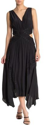Ramy Brook Marlo V-Neck Cutout Midi Dress