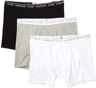 Calvin Klein Underwear CK One Cotton Multipack Boxer Brief (White/White/White) Men's Underwear