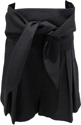 IRO Black Wool Shorts for Women