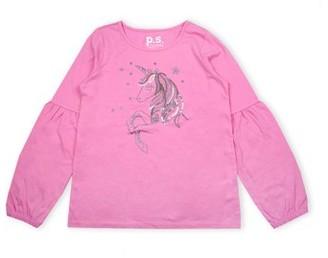 Aeropostale p.s.09 from Sequin Unicorn Puff Sleeve Shirt (Little Girls & Big Girls)