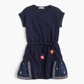J.Crew Girls' embroidered panel dress