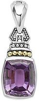 Lagos 18K Gold and Sterling Silver Caviar Color Amethyst Pendant