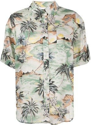 Zimmermann Tropical Print Utility Shirt