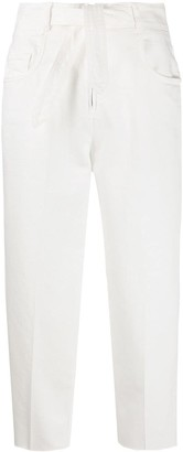 Pinko Belted Cropped Jeans