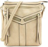 Isa Belle Isabelle Double Compartment Crossbody Bag with Zipper Accent