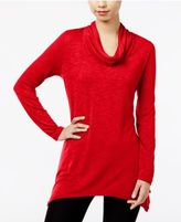 NY Collection Asymmetrical Cowl-Neck Top
