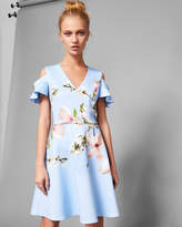 Ted Baker EFFRAE Harmony cold shoulder skater dress
