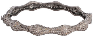Forever Creations Usa Inc. Forever Creations Silver 5.65 Ct. Tw. Diamond Bangle