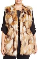 Sioni Plus Long Faux Fur Vest
