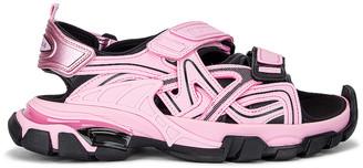 Balenciaga Strap Sandals in Pink & Black   FWRD