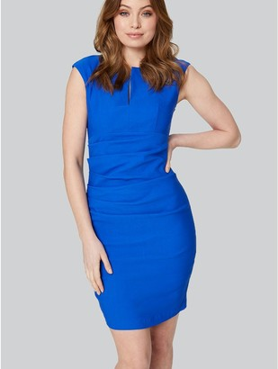 M&Co Ruched Tailored Shift Dress